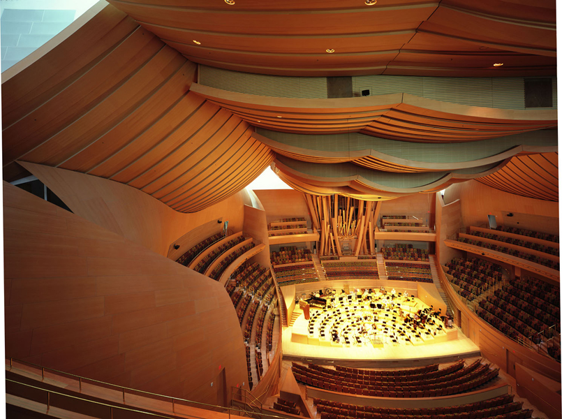 walt disney concert hall la interior design mag