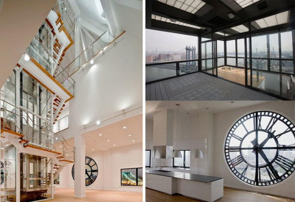 DUMBO Clock Tower Penthouse Bachelor Pad in Brooklyn