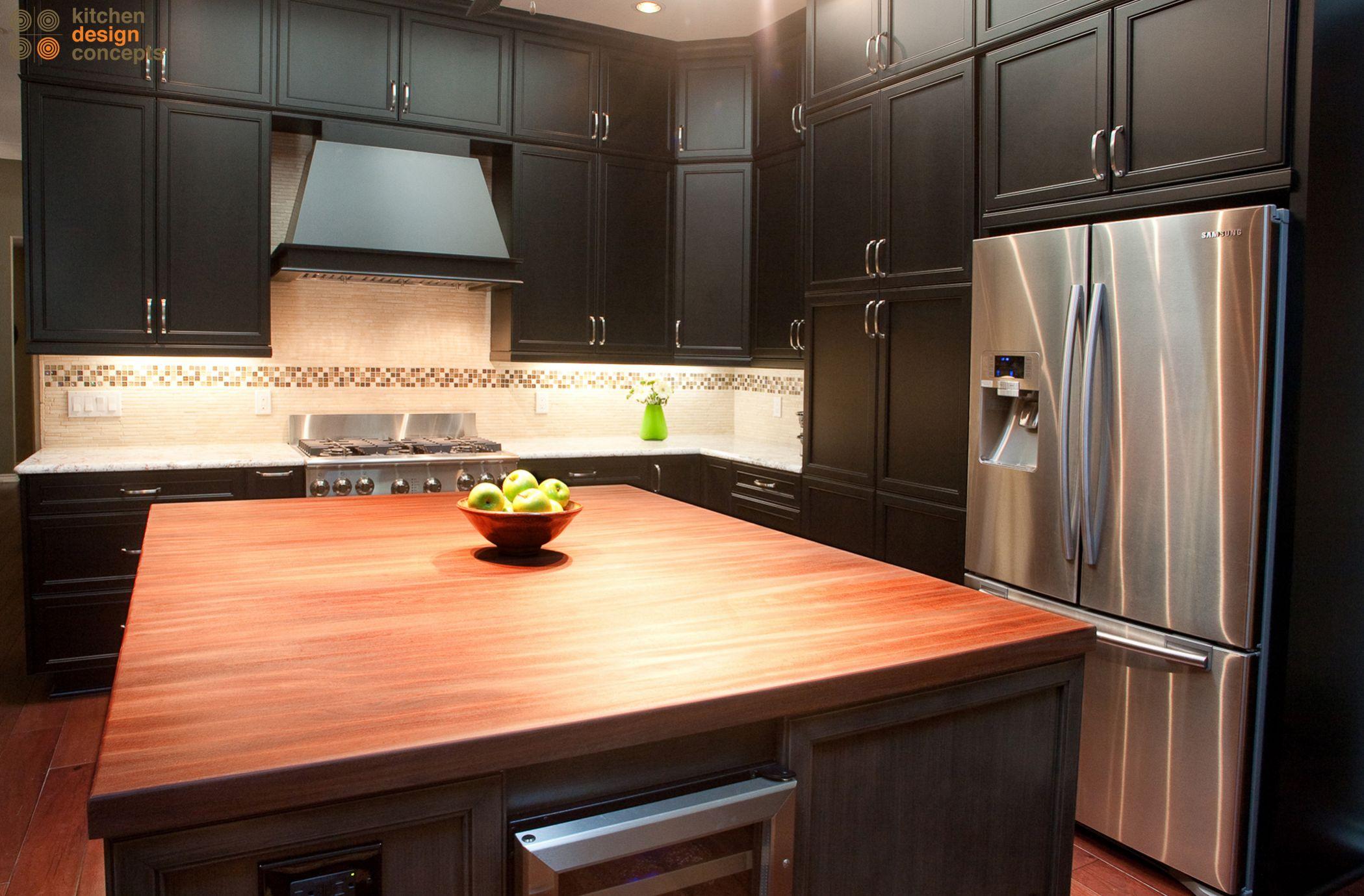 dark wood kitchen - interior design mag
