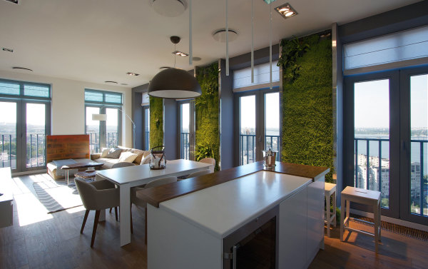 Garden Walls in Ukrainian Apartment
