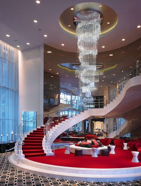 Grand staircase at the W Hollywood Hotel