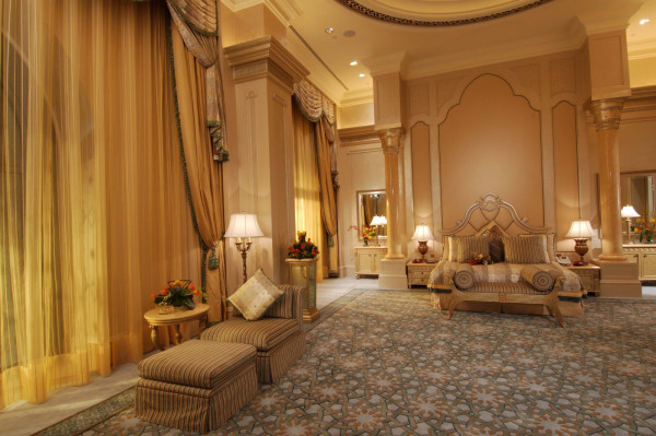 Hotel suite in the Emirates Palace in Abu Dhabi, United Arab Emirates