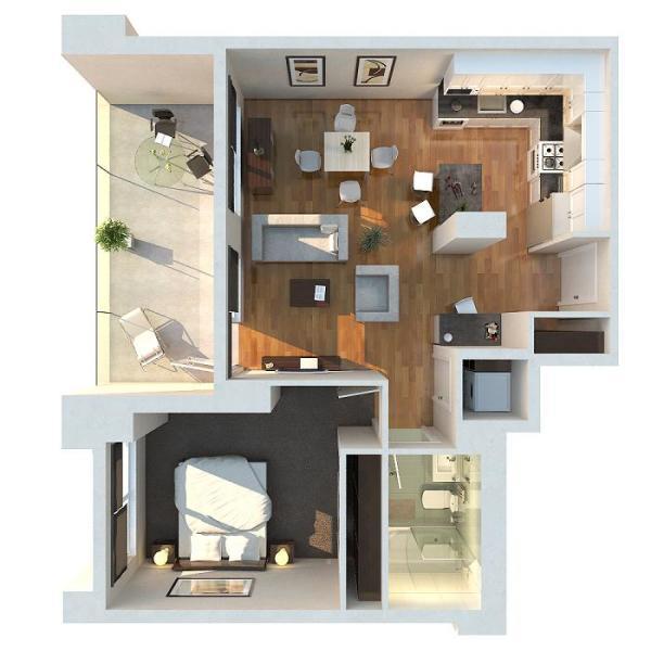Apartment Layout: Interior Design Ideas