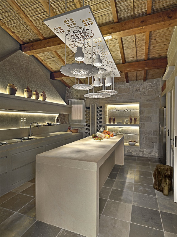 Stone Kitchen at Relais Masseria Capasa in Martano, Italy