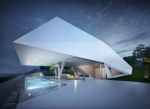 Stunning holiday home with futuristic design in Greece