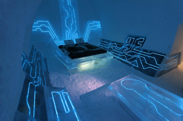 Tron Hotel Suite in Sweden