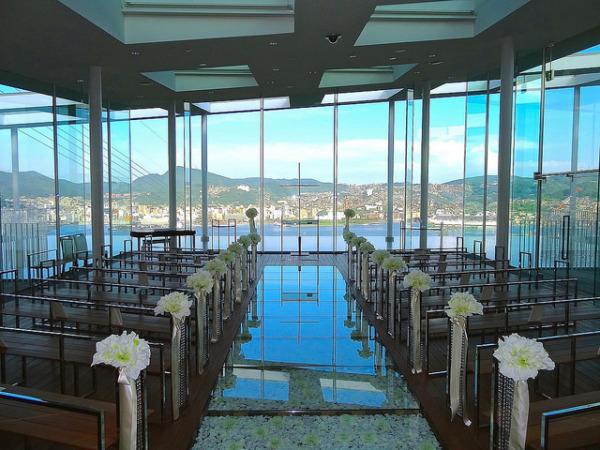 Wedding chapel, Garden Terrace Nagasaki Hotels & Resorts, Japan by Kengo Kuma