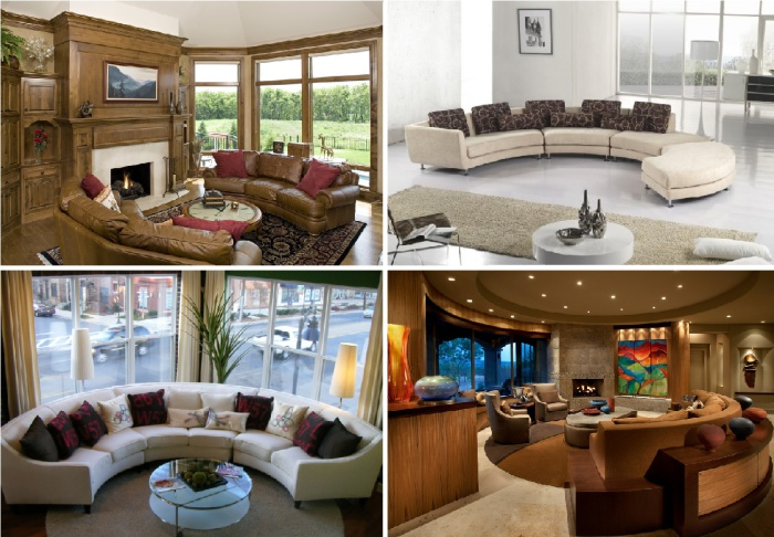 11 Stylish Curved Sofas for Elegant Living Room