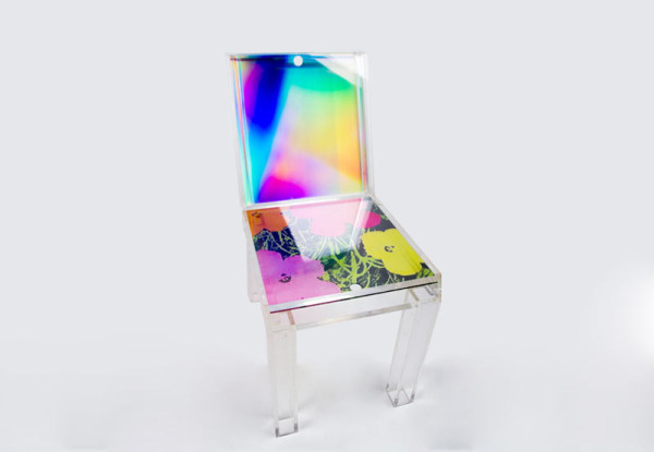 Different layers of colored acrylic Chair (10 Photos)