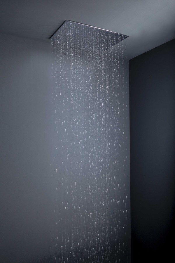 A Flush With Ceiling Rain Shower Head.