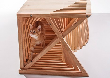 A Group Of Architects Teamed Up To Produce Sculptural Modern Cat Furniture  For The Giving Shelter Fundraiser, Which Donated Its Proceeds To The  Non Profit, ... Part 41