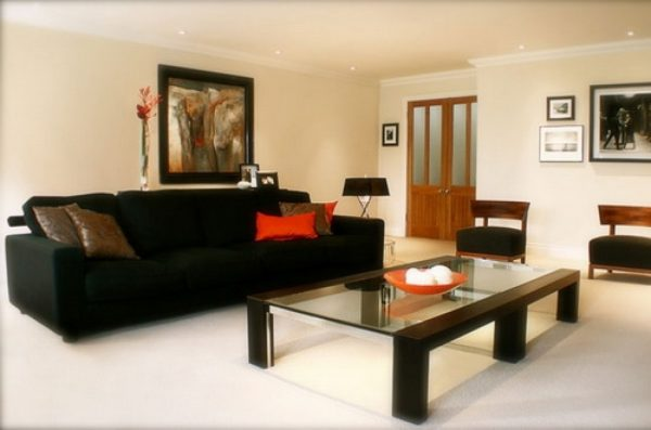 25 interior design ideas of the day february 07 2017 for Living room designs with dark furniture