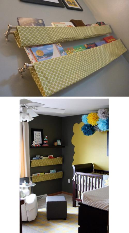 Hanging Fabric Shelves