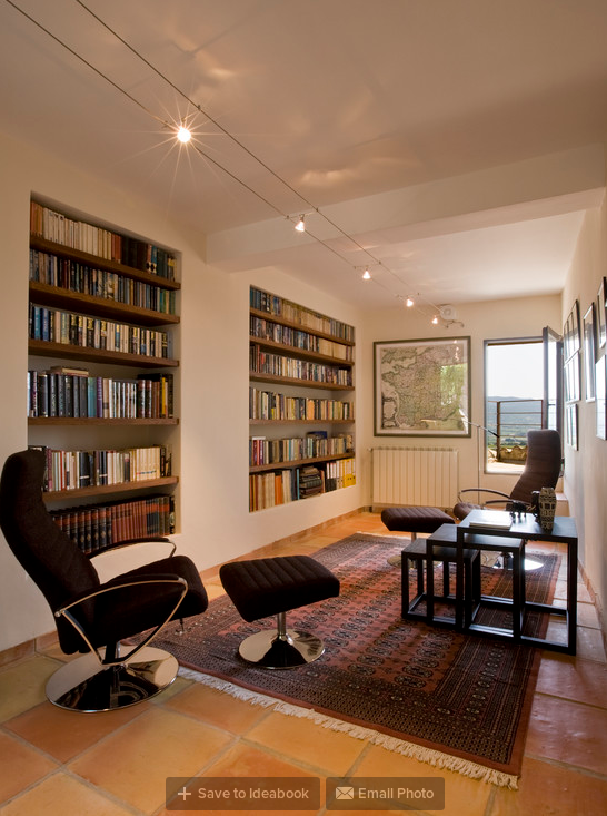 Library with Recessed Bookshelves