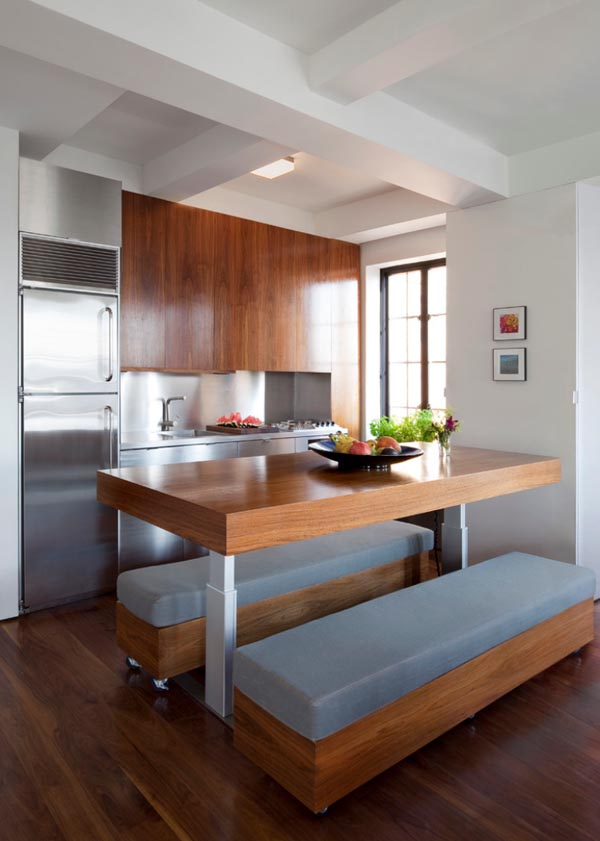 Make use of the center of your kitchen
