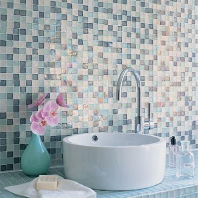 Mosaic vanity wall