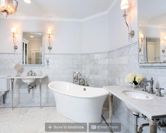 Parisian Inspired Master Bathroom Design
