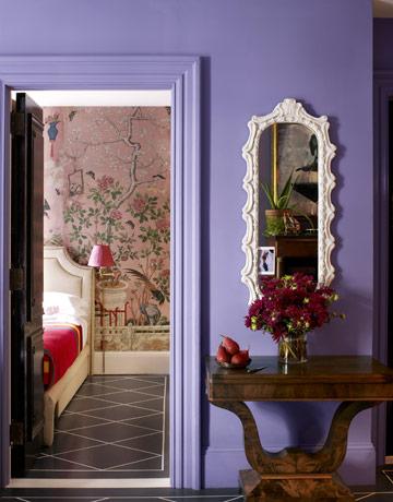 Purple-Painted Walls