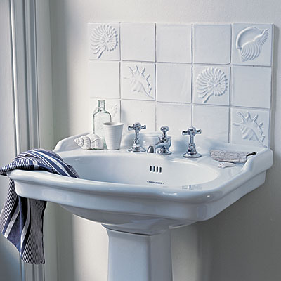 Raised tile backsplash