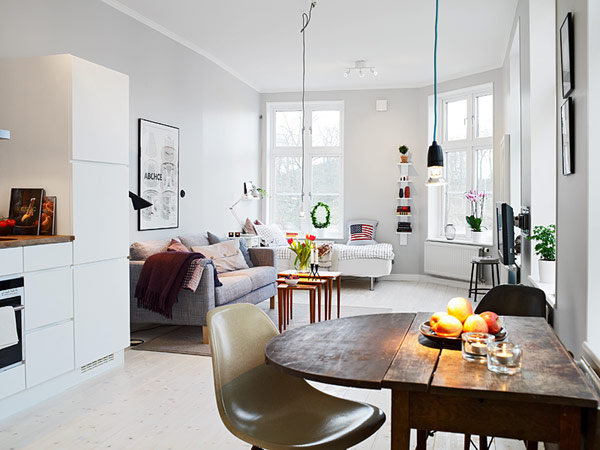 Small Apartment in Gothenburg Showcasing an Ingenious Layout