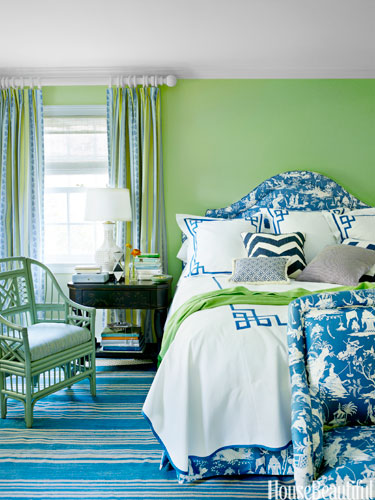 Spring Green and Bright Blue