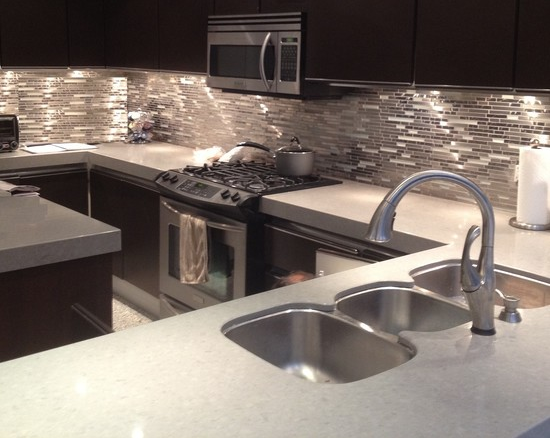 Stainless Steel Metal & Glass Mosaic