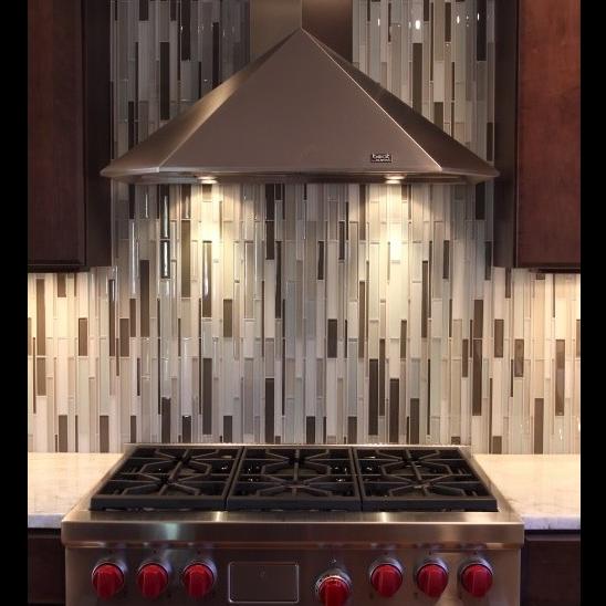 Vertical Glass Mosaic