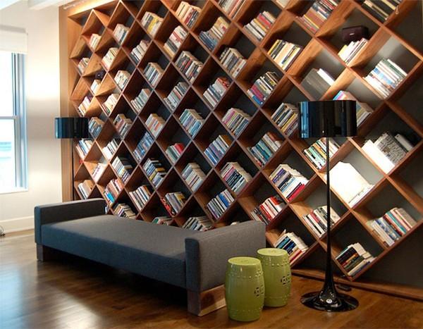 interesting bookcase