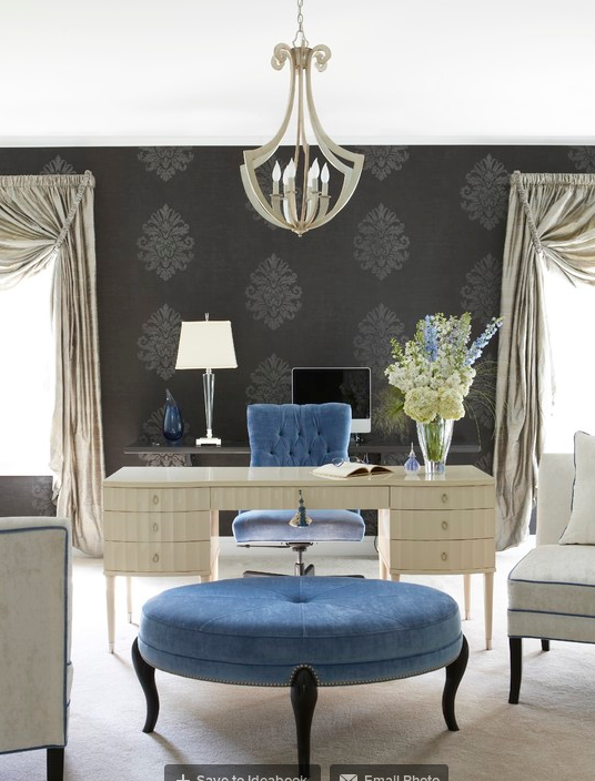 Glamorous home office