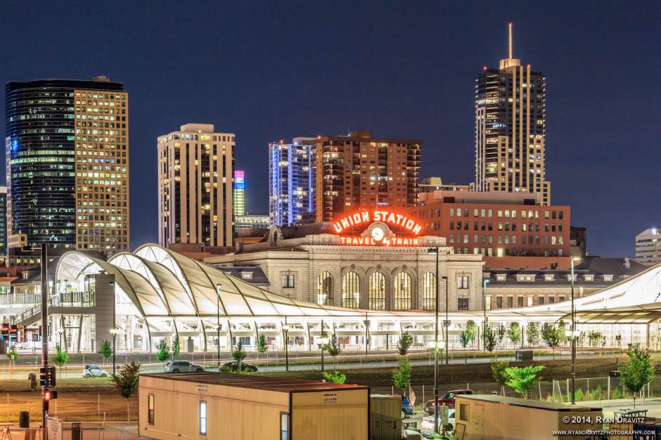 Denver's new train hall canopy
