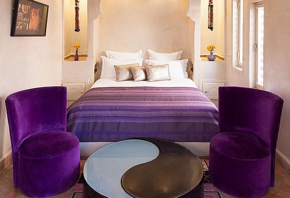 Luxury purple and shiny gold