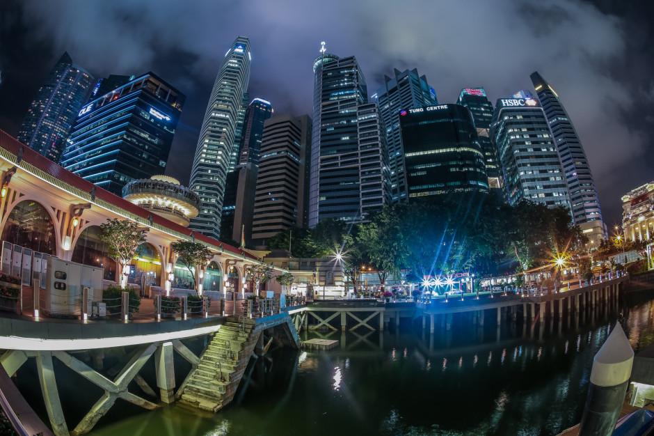 Singapore's skyline from Marina Bay