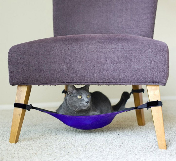 Armchair with a hammock for cat from catcrib.com.