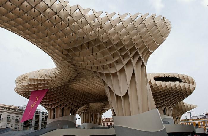Metropol Parasol - giant wooden umbrellas in Seville