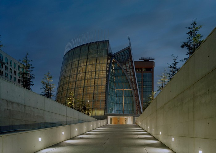 Cathedral of Christ the Light - the cathedral made of wood and glass in Auckland