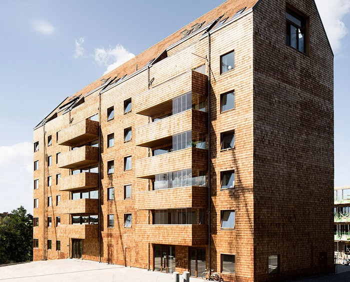 Actual wooden high-rise building in Stockholm