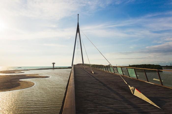 Wooden bridge in Anaklia
