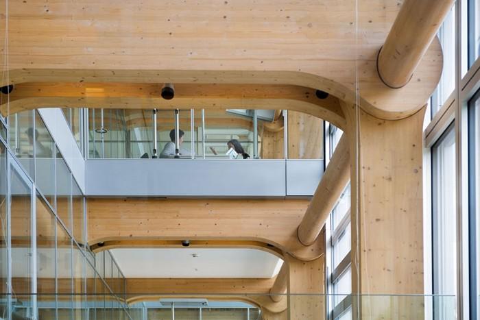Wooden headquarters Tamedia in Zurich