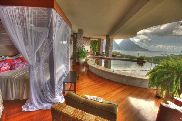 Bedroom with a pool - St Lucia