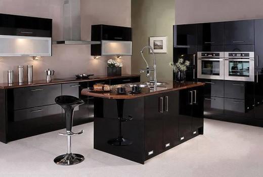 Black Kitchen Designs 1