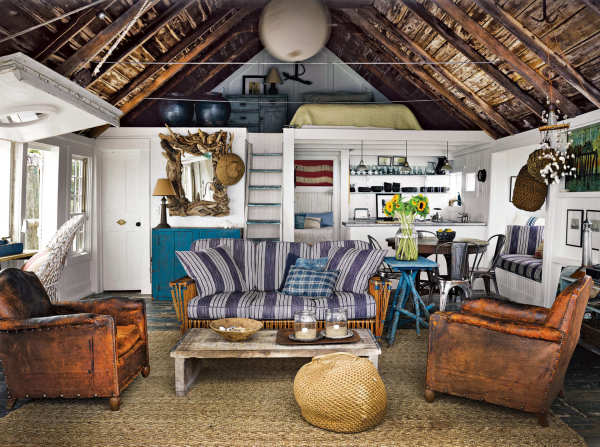 Living Room of Bay Front Cabin, Provincetown