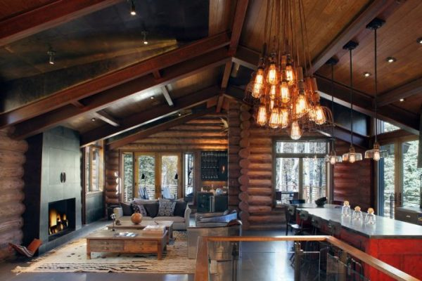 Rustic and Contemporary Living Room