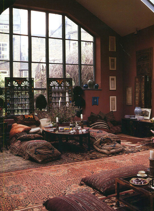 Loft with a cozy living area