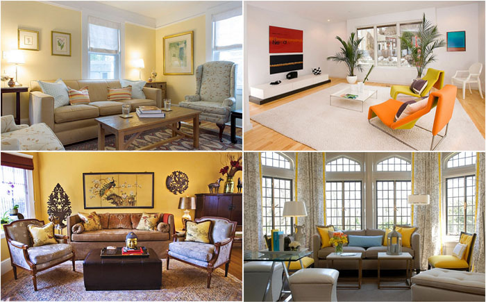 Simple & Original ideas on How to Revive The Living Room by using Yellow Color