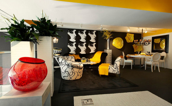 Good Black And Yellow Living Room Ideas Thecreativescientist Com