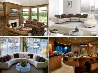 11 Stylish Curved Sofas for Elegant Living Room